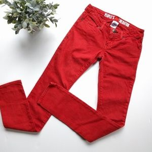 People's Liberation• red skinny jeans star pocket